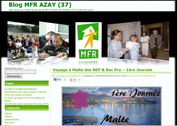 de la mfr d azay le rideau carnet de voyage 224 malte le des maisons familiales rurales