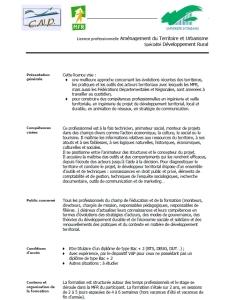Programme Licence ATUsDR
